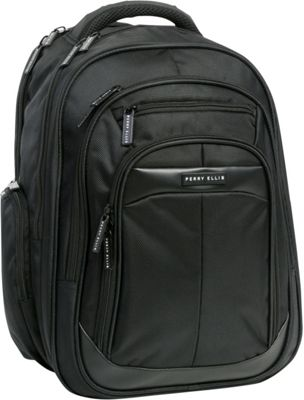 Perry Ellis M140 Business Laptop Backpack Black - Perry Ellis Business & Laptop Backpacks