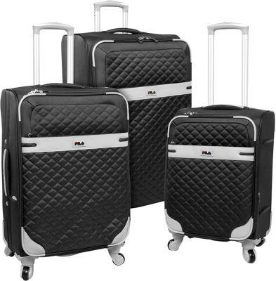 Fila Gabriella 3 Piece Luggage Set Black - Fila Luggage Sets