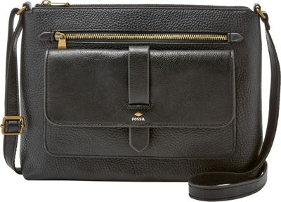 Fossil Kinley Crossbody Black - Fossil Leather Handbags