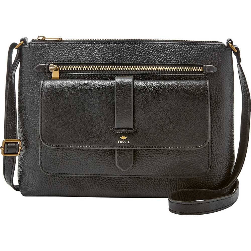 Fossil Kinley Crossbody Black - Fossil Leather Handbags - Handbags, Leather Handbags