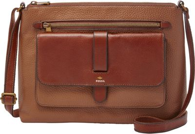 Fossil Kinley Crossbody Brown - Fossil Leather Handbags