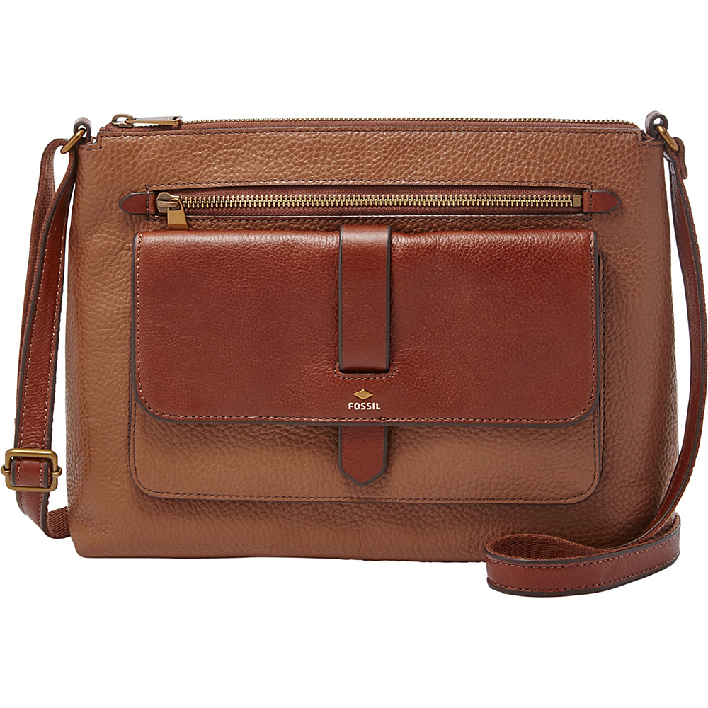 Fossil Kinley Crossbody Brown - Fossil Leather Handbags - Handbags, Leather Handbags