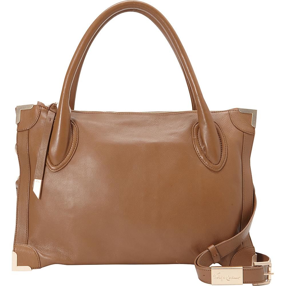 Foley Corinna Frankie Satchel Chestnut Foley Corinna Designer Handbags