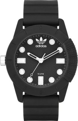Image of adidas originals Watches ADH-1969 Three Hand Silicone Watch Black - adidas originals Watches Watches