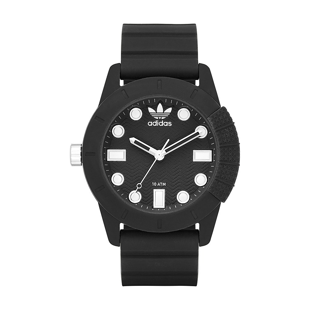 adidas watches ADH-1969 Three Hand Silicone Watch Black - adidas watches Watches