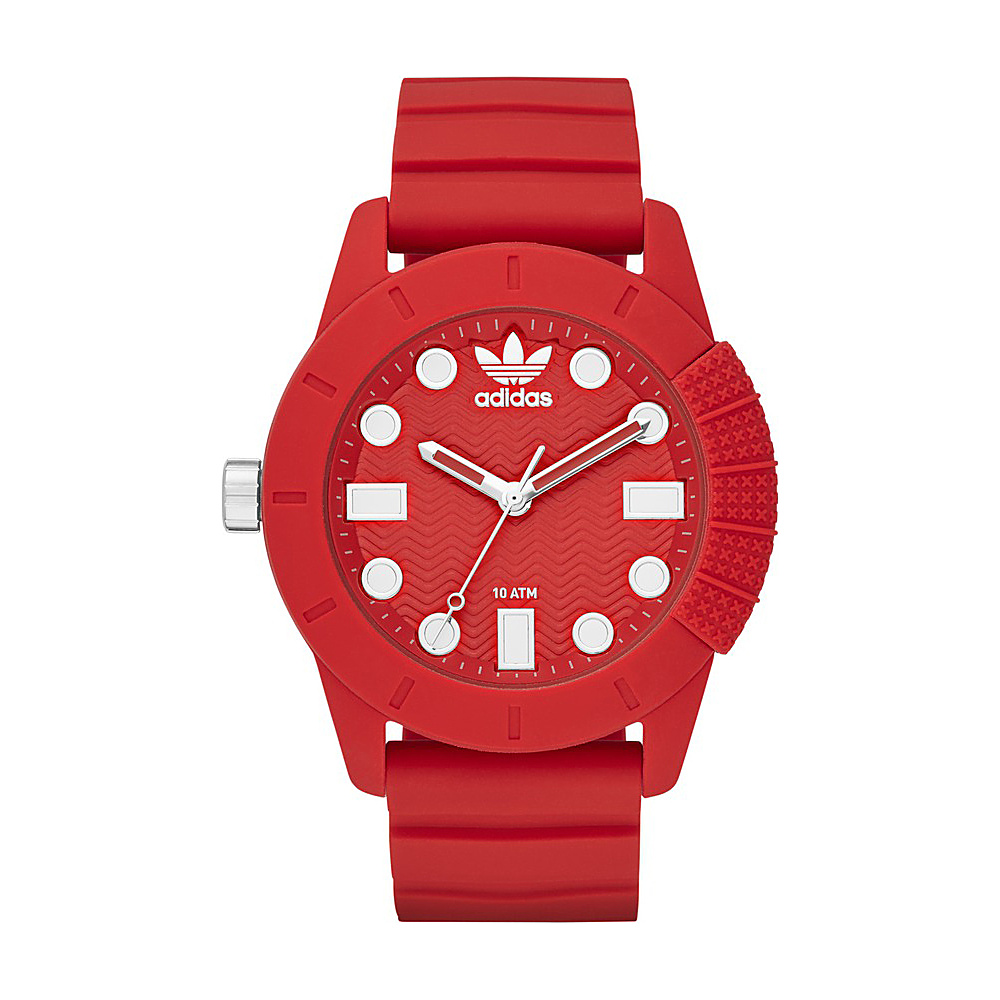 adidas watches ADH-1969 Three Hand Silicone Watch Red - adidas watches Watches