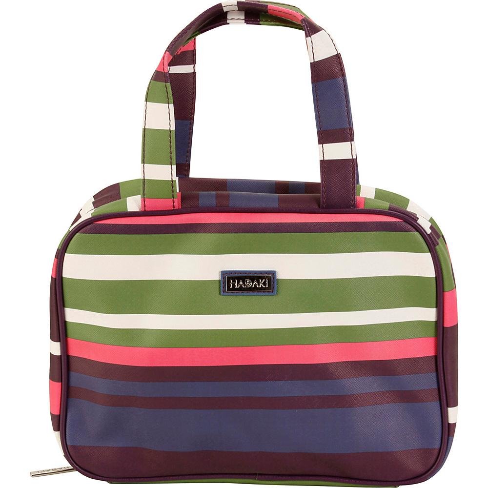 Hadaki Vegan Makeup Case Pod Stripes - Hadaki Toiletry Kits - Travel Accessories, Toiletry Kits