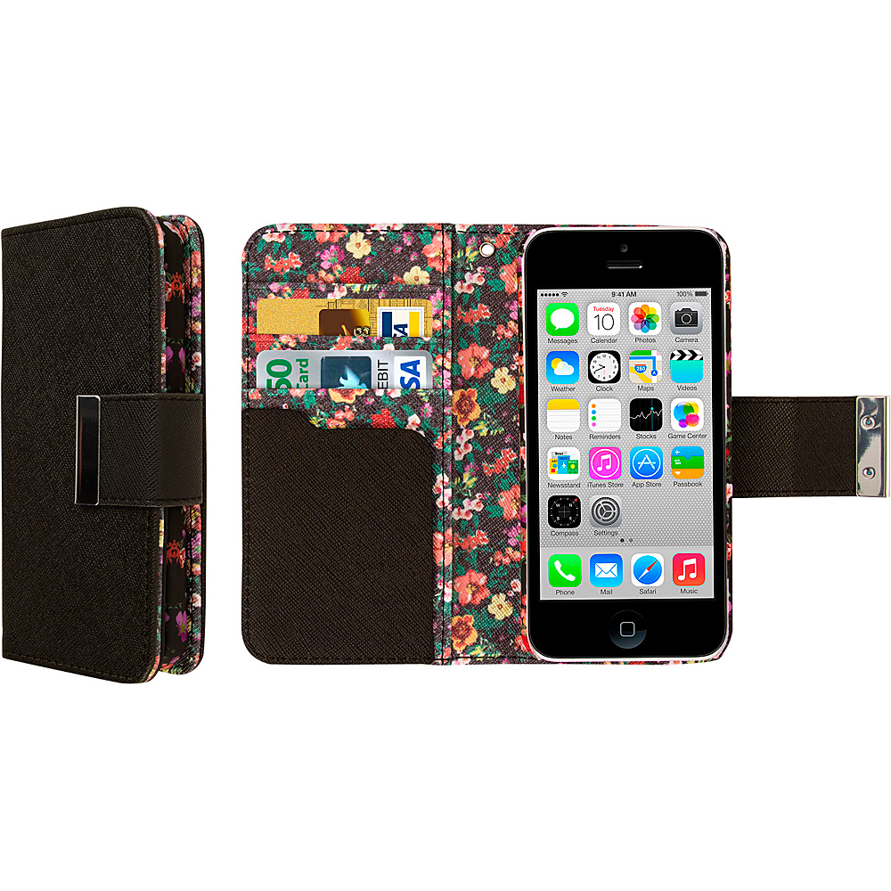 EMPIRE KLIX Klutch Designer Wallet Cases for Apple iPhone 5 5S Vintage Floral EMPIRE Electronic Cases