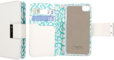 EMPIRE KLIX Klutch Designer Wallet Cases for Apple iPhone 5 / 5S Mint Leopard - EMPIRE Electronic Cases