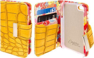 EMPIRE KLIX Klutch Designer Wallet Cases for Apple iPhone 5 / 5S Vintage Flower Pop! - EMPIRE Electronic Cases