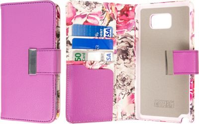 EMPIRE KLIX Klutch Designer Wallet Cases for Apple iPhone 5 / 5S Pink Faded Flowers - EMPIRE Electronic Cases