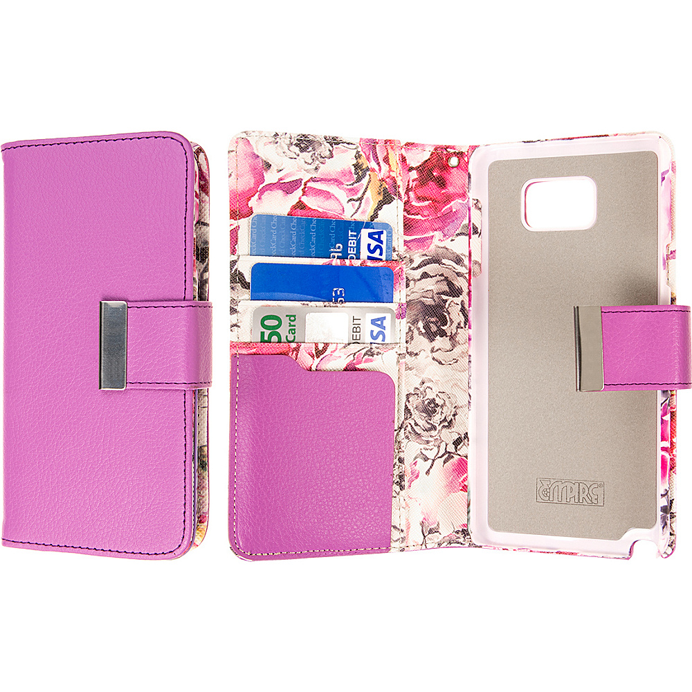 EMPIRE KLIX Klutch Designer Wallet Cases for Apple iPhone 5 5S Pink Faded Flowers EMPIRE Electronic Cases