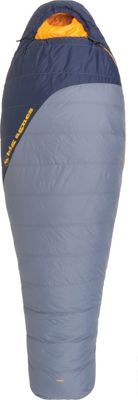 Big Agnes Spike Lake 15 600 DownTek Sleeping Bag Flint/Navy - Long Left - Big Agnes Outdoor Accessories