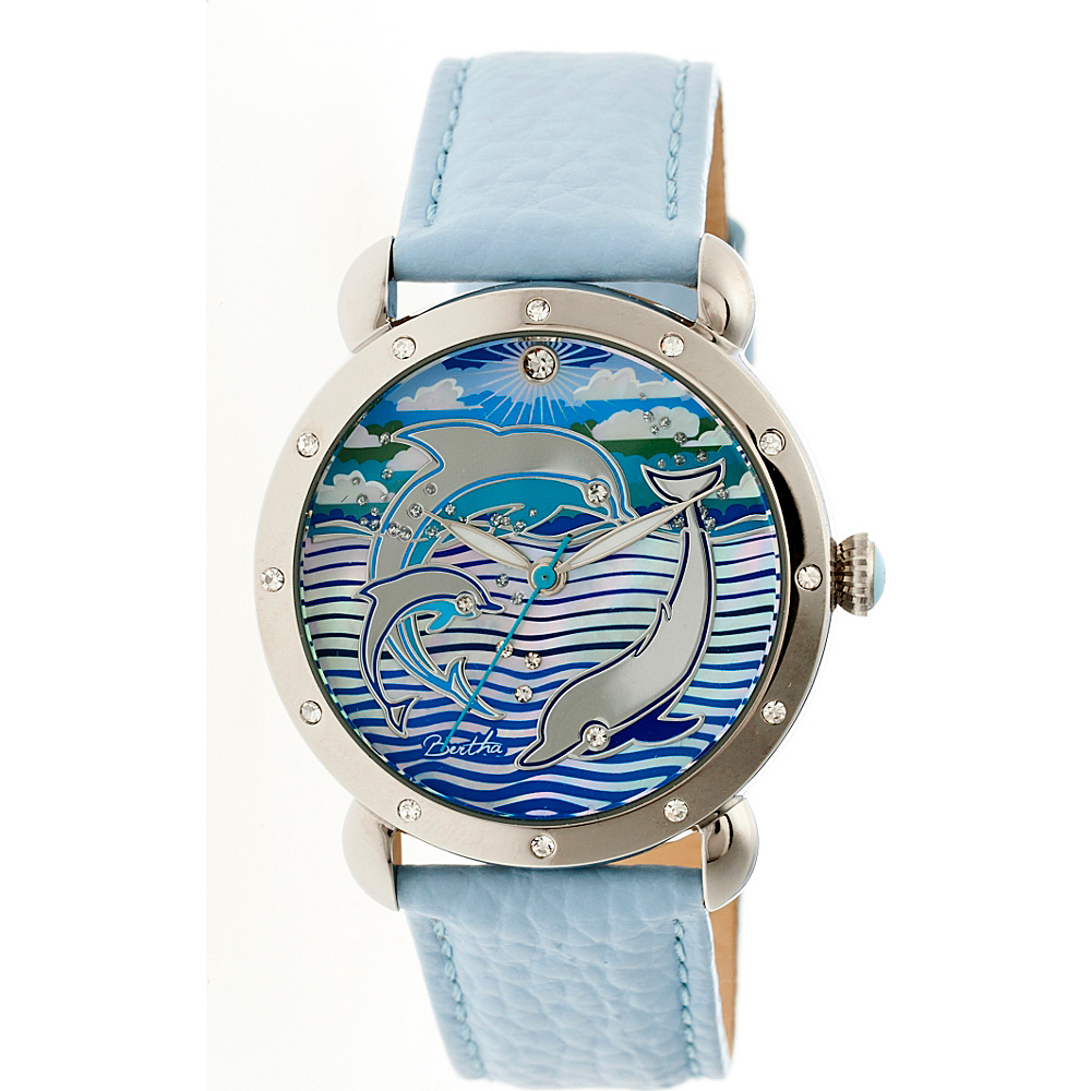 Bertha Watches Estella Ladies Watch Powder Blue Bertha Watches Watches