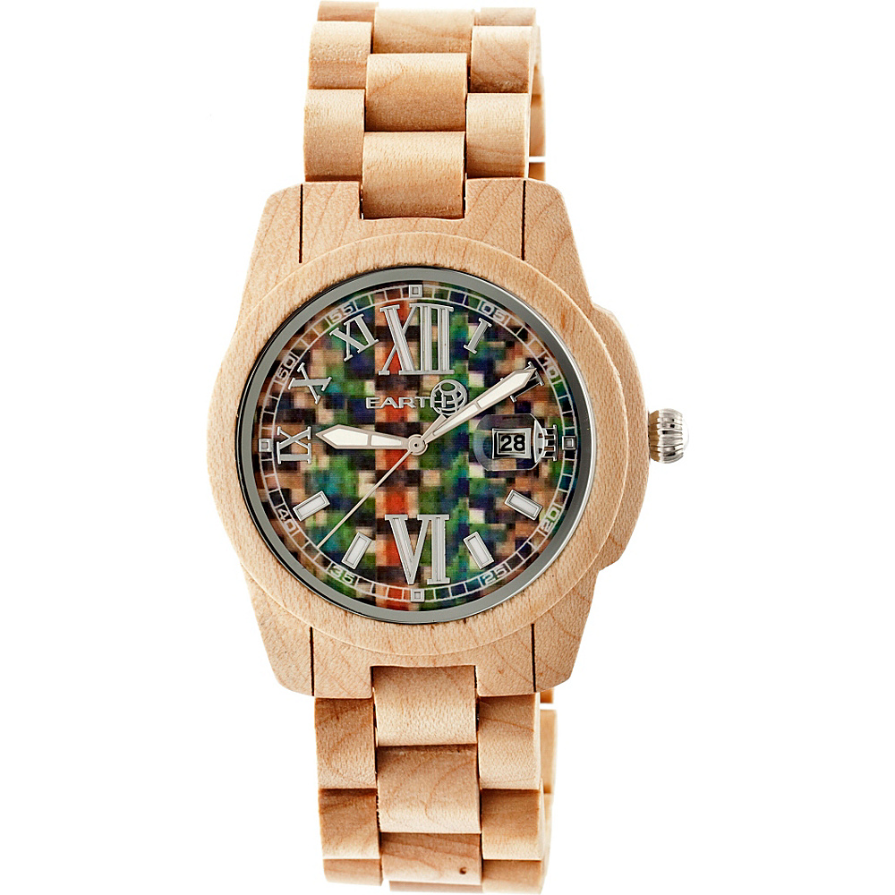 Earth Wood Heartwood Wood Unisex Watch Khaki Tan Earth Wood Watches
