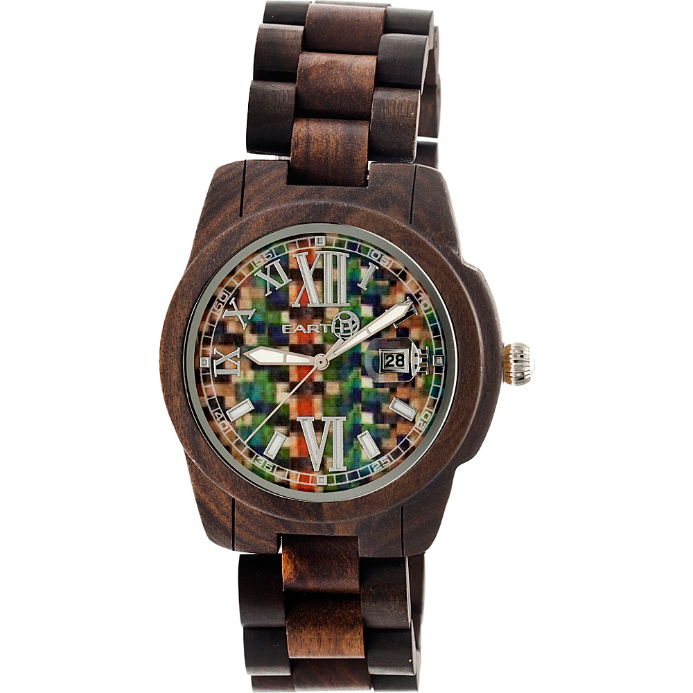 Earth Wood Heartwood Wood Unisex Watch Dark Brown Earth Wood Watches
