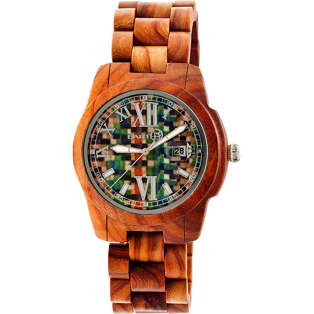 Earth Wood Heartwood Wood Unisex Watch Red Earth Wood Watches