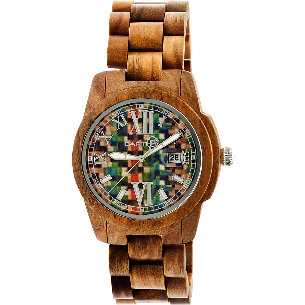 Earth Wood Heartwood Wood Unisex Watch Olive Earth Wood Watches