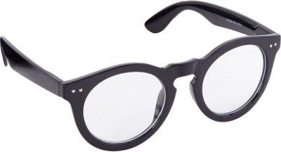 POP Fashionwear Classic Retro Round Fashion Clear Sunglasses Black/Clear Lens - POP Fashionwear Sunglasses