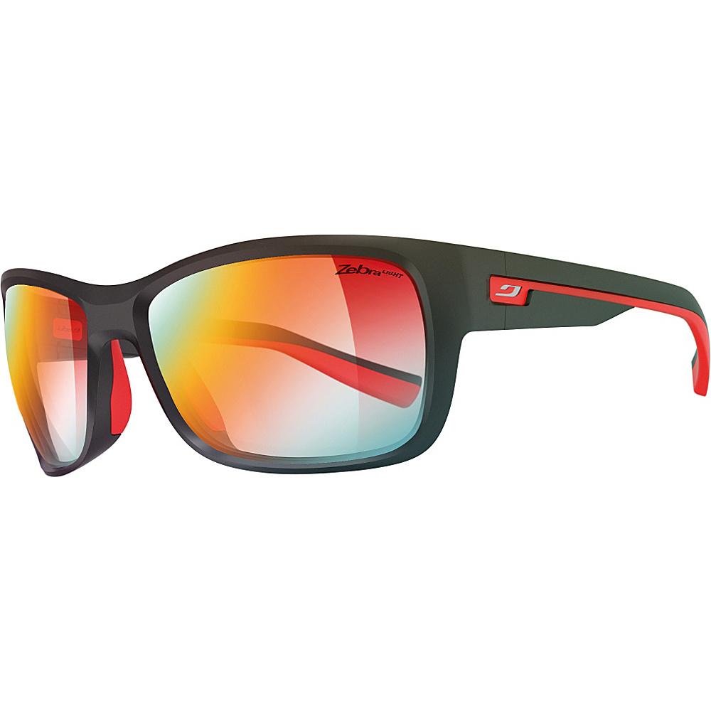 Julbo Drift Sunglasses with Zebra or Zebra Light Lens Matte Black / Red - Julbo Sunglasses