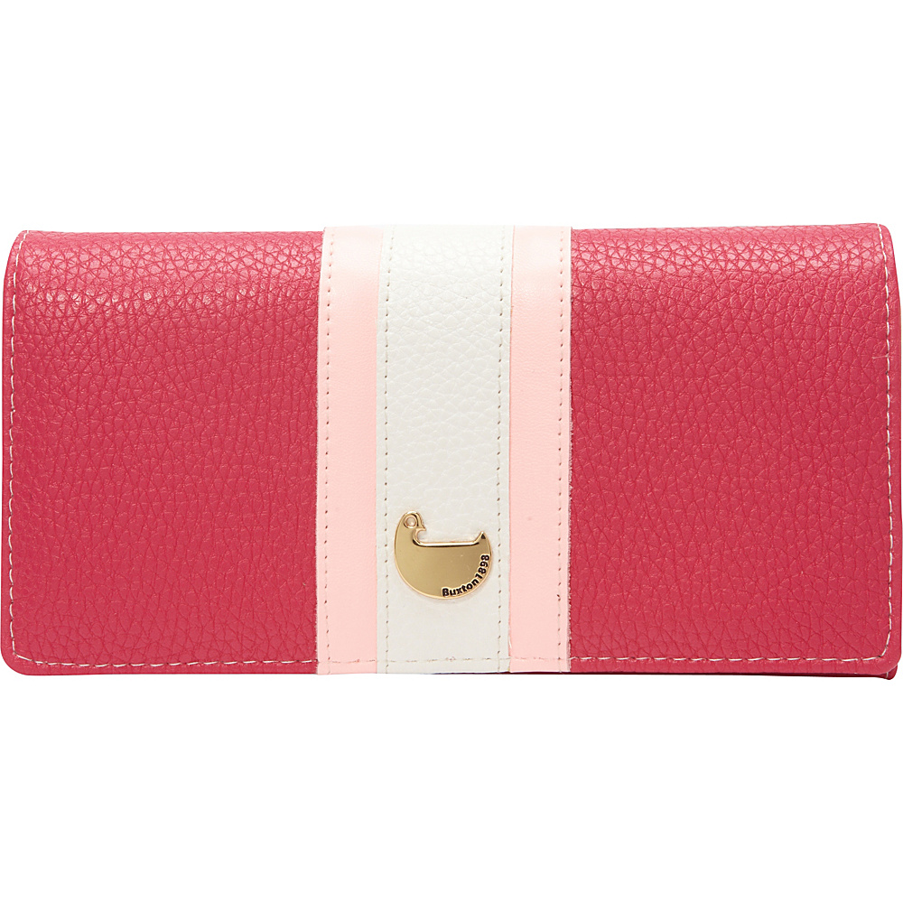 Buxton Prepster Expandable Clutch Fuchsia Pink - Buxton Womens Wallets - Women's SLG, Women's Wallets