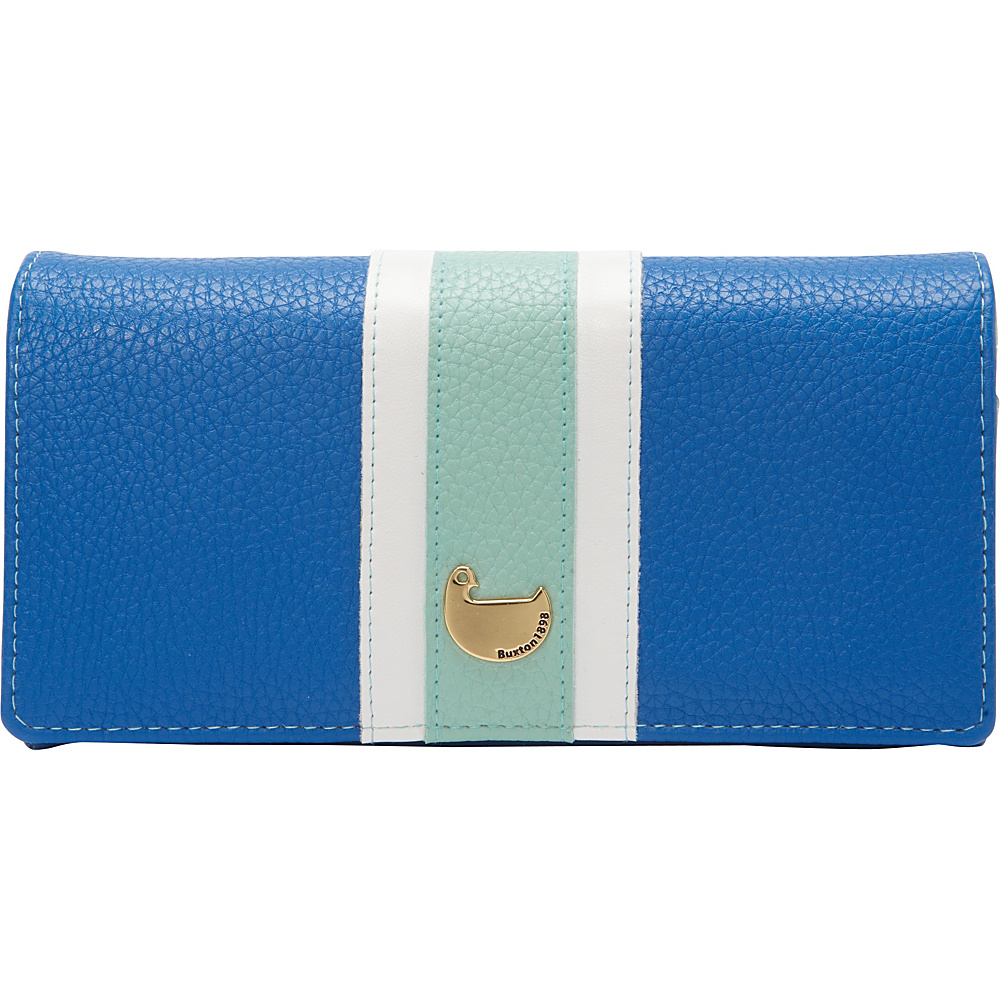 Buxton Prepster Expandable Clutch Strong Blue - Buxton Womens Wallets - Women's SLG, Women's Wallets