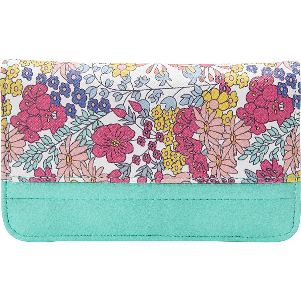 Buxton Ditsy Floral Pik-Me-Up Snap Card Case Beach Glass - Buxton Womens Wallets - Women's SLG, Women's Wallets