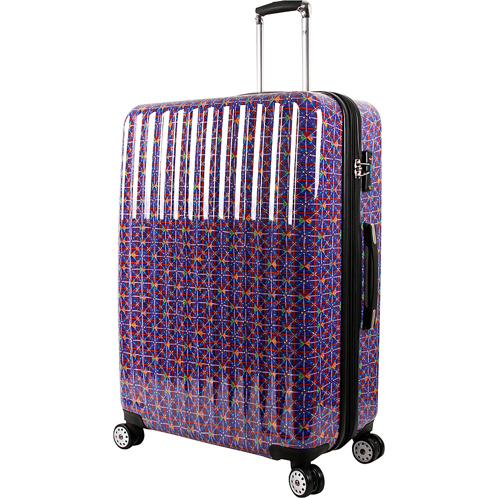 J World New York Titan 29 inch Polycarbonate Art Luggage Squares - J World New York Hardside Checked - Luggage, Hardside Checked