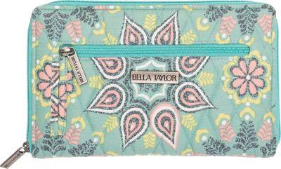 Bella Taylor Signature Zip Wallet Luna Green - Bella Taylor Women's Wallets