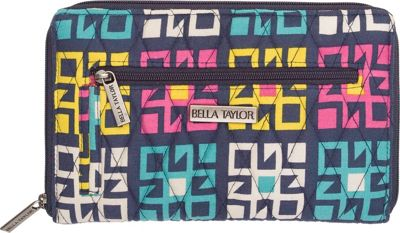 Bella Taylor Signature Zip Wallet Zealand Blue - Bella Taylor Women's Wallets