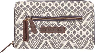 Bella Taylor Signature Zip Wallet Brooke White - Bella Taylor Women's Wallets