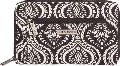 Bella Taylor Signature Zip Wallet Dahlia Black - Bella Taylor Women's Wallets