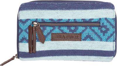 Bella Taylor Signature Zip Wallet Eliza Blue - Bella Taylor Women's Wallets