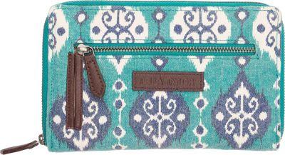 Bella Taylor Signature Zip Wallet Lanai Blue - Bella Taylor Women's Wallets