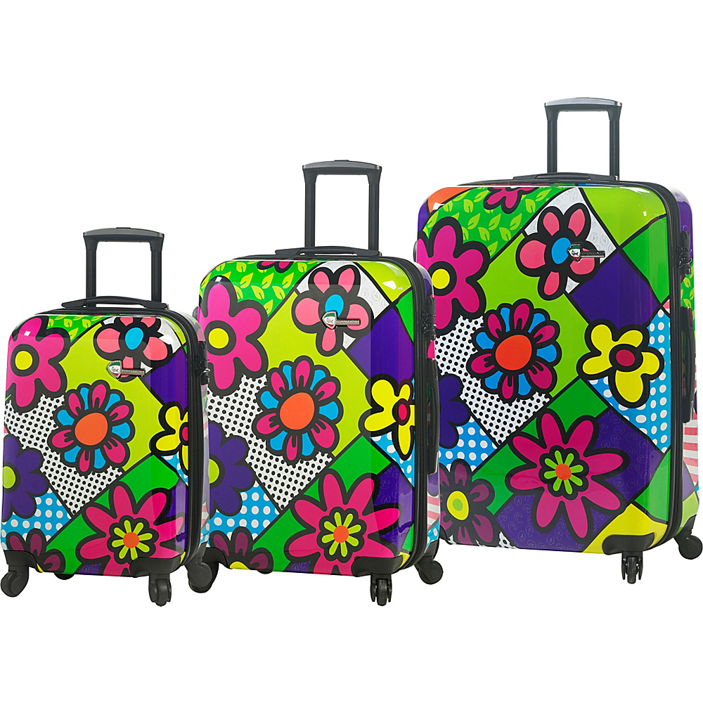 Mia Toro ITALY Flowery Luggage Set Multicolor Mia Toro ITALY Luggage Sets