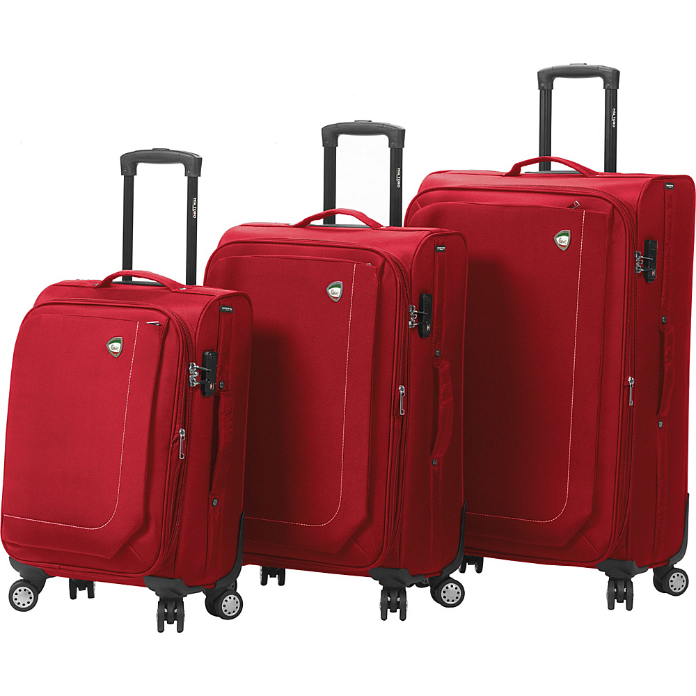 Mia Toro ITALY Madesimo Luggage Set Red Mia Toro ITALY Luggage Sets