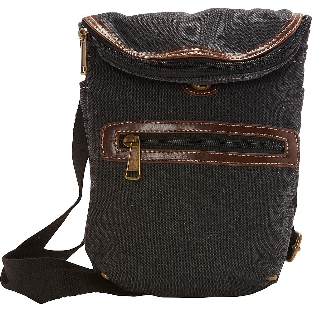 Sun N Sand Derby Crossbody Bag Charcoal - Sun N Sand Fabric Handbags - Handbags, Fabric Handbags