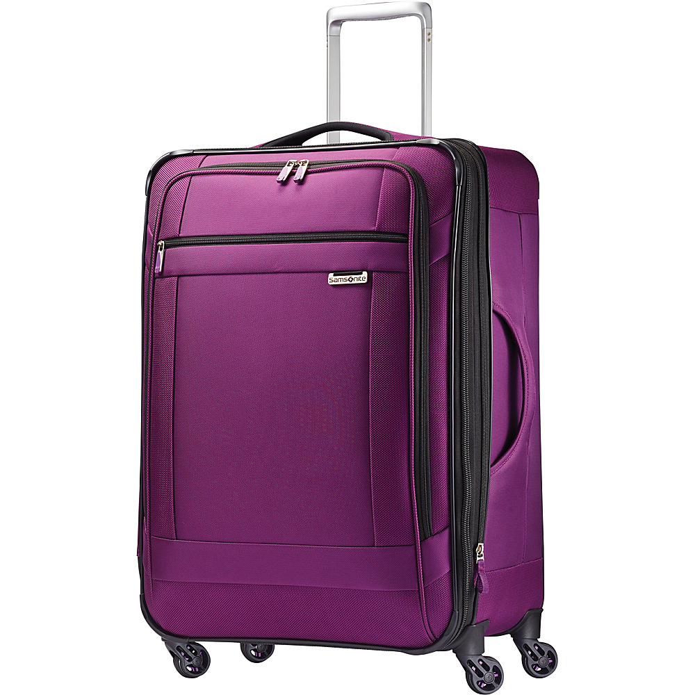 Samsonite SoLyte Spinner 25 Purple Magic Samsonite Softside Checked