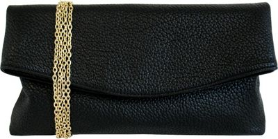 JNB Foldover Clutch Black - JNB Manmade Handbags