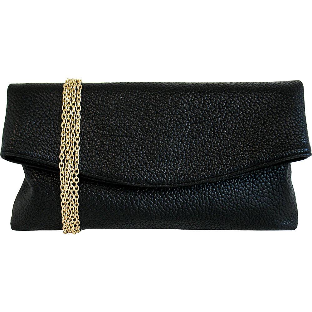 JNB Foldover Clutch Black JNB Manmade Handbags