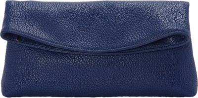JNB Foldover Clutch Blue - JNB Manmade Handbags