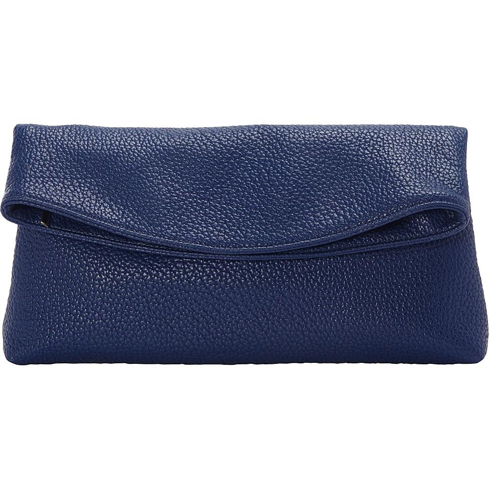 JNB Foldover Clutch Blue JNB Manmade Handbags