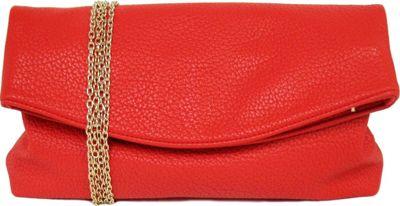 JNB Foldover Clutch Red - JNB Manmade Handbags