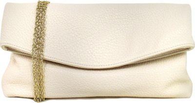 JNB Foldover Clutch Sand - JNB Manmade Handbags