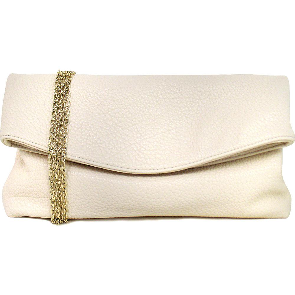 JNB Foldover Clutch Sand JNB Manmade Handbags