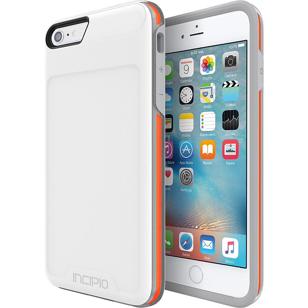 Incipio Performance Series Level 4 for iPhone 6 Plus / 6s Plus White/Orange - Incipio Electronic Cases - Technology, Electronic Cases