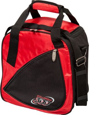 Columbia 300 Bags Team C300 Single Ball Tote Red/Black - Columbia 300 Bags Bowling Bags