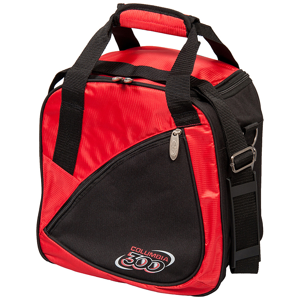 Columbia 300 Bags Team C300 Single Ball Tote Red Black Columbia 300 Bags Bowling Bags
