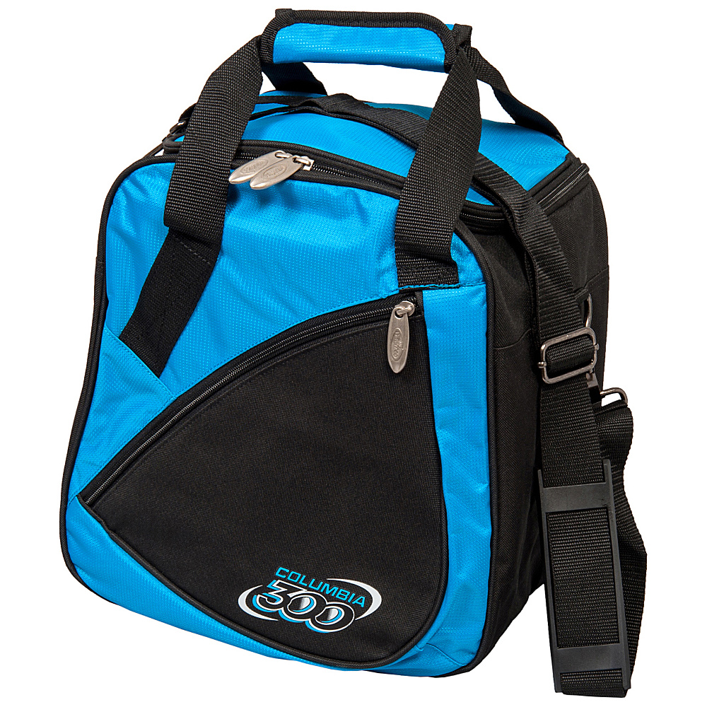 Columbia 300 Bags Team C300 Single Ball Tote Blue Black Columbia 300 Bags Bowling Bags