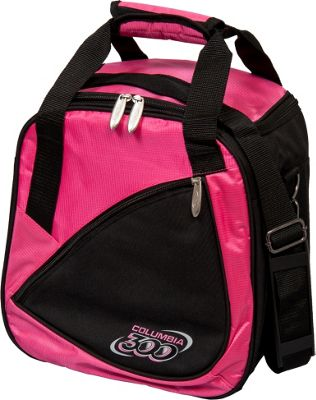 Columbia 300 Bags Team C300 Single Ball Tote Pink/Black - Columbia 300 Bags Bowling Bags